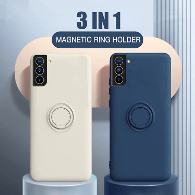 $ CDN6.26 • Buy For Samsung Galaxy S21 Ultra S20 FE Liquid Silicone Ring Holder Phone Case Cover