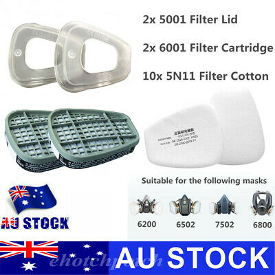 AU15.68 • Buy 6001 Filter Box / 5N11 Filters / 501 Cover For 6800 6200 7502 Respirator Replace