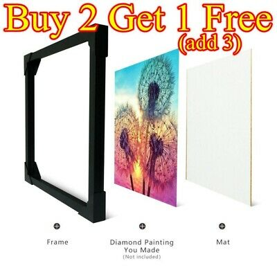 AU19.99 • Buy Wooden Frame For Diamond Painting Cross Stitch Embroidery Decoration White Black