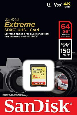 £20.99 • Buy 64GB SD SanDisk Memory Card For Canon Powershot A810 Digital Camera