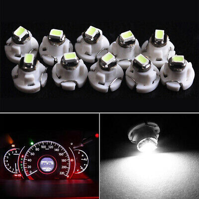 $2.85 • Buy 10x White T4 T4.2 Neo Wedge 1-SMD LED Cluster Instrument Dash Climate Bulb Light