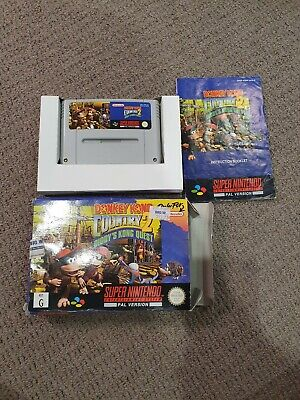 AU100 • Buy Donkey Kong Country 2 SNES PAL BOXED