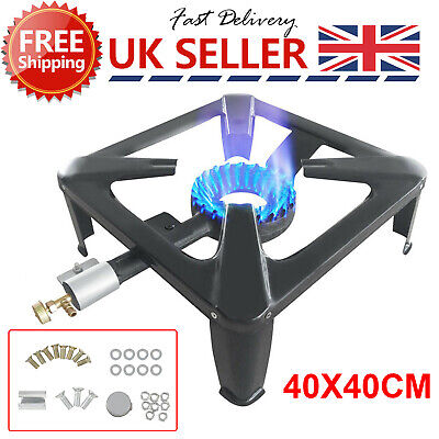 £20.99 • Buy Large Lpg Gas Burner Cooker Cast Iron Boiling Ring Camping Catering Restaurant O