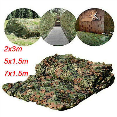 £10.59 • Buy Camouflage Netting Camo Net Hunting Shooting Camping Army Green Hide Cover UK
