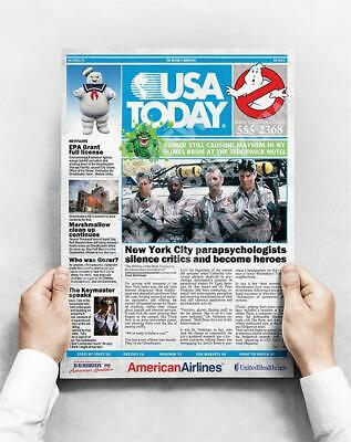 £10 • Buy Ghostbusters - A3 Poster *** Newspaper Style Cover ***  Slimer