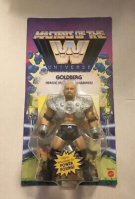 $31.99 • Buy WWE Masters Of The Universe Wave 6 Goldberg Figure MOC Unpunched MOTU In Hand
