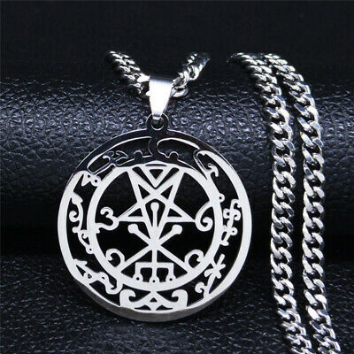 $ CDN18.48 • Buy Angels & Demons Sigil Inverted Pentagram Stainless Steel Gothic Pendant Necklace