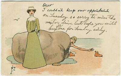 I COULDN'T KEEP OUR APPOINTMENT, John Hassall - Comic Postcard Seaside (P5823) • 5£