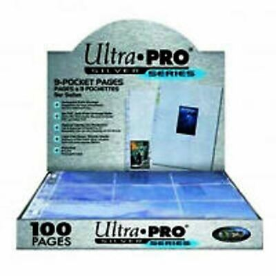 ULTRA PRO SILVER  CLEAR 9 POCKET SLEEVE PAGES  QUANTITY 10 TO 200   POKEMON Etc • 3.99£
