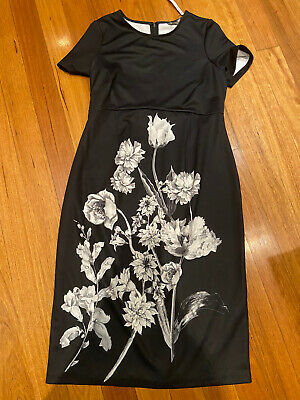 AU12 • Buy ASOS Maternity Dress 12 New With Tag Black White Floral