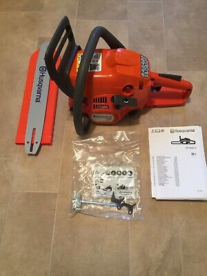 "View Details Brand New Husqvarna 120 Mark II 38cc Petrol Chainsaw With 14"" Bar And Chain • 169.95£"