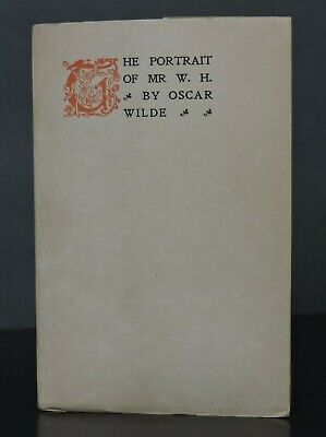$42 • Buy MOSHER PRESS The Portrait Of Mr W. H. OSCAR WILDE Limited Edition PRIVATE PRESS