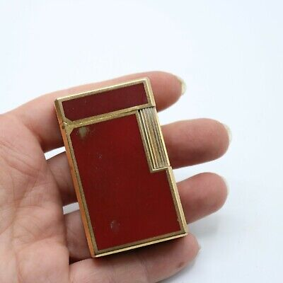 AU53.99 • Buy Vintage S.T. Dupont De Paris Made In France Red Chinese Lacquer Lighter
