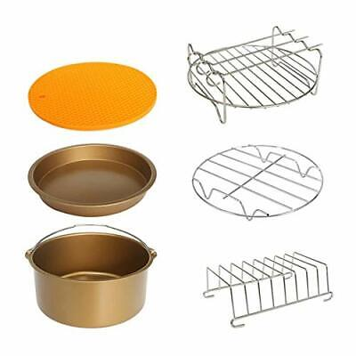 AU36.33 • Buy 8 Inch XL Air Fryer Accessories 6Pcs Compatible With Phillips Cozyna And Sec#02