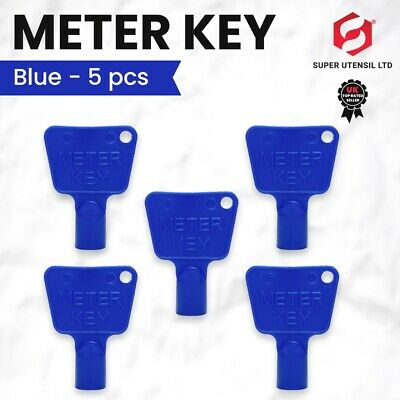 £2.99 • Buy 5 X Blue Service Utility Meter Key Gas Electric Box Cupboard Cabinet Triangle