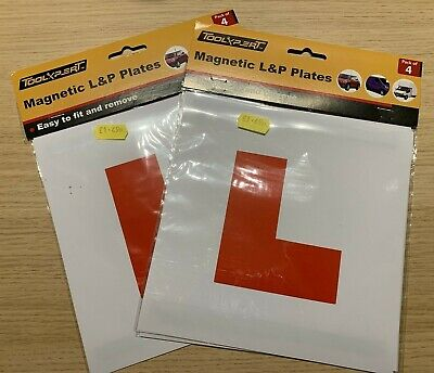 Magnetic L&P Plates (1 Pack Of Learner Plates, 1 Pack Of Learner & Provisional) • 1.10£