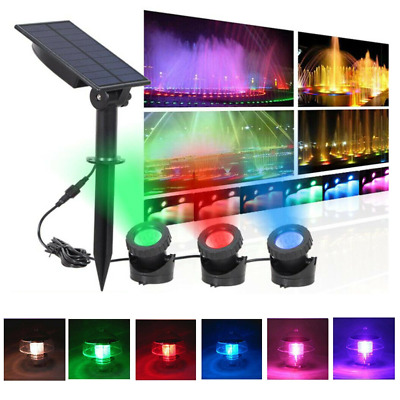 18 LED Solar Spot Lights Waterproof Color Changing Wall Outdoor Garden Yard Lamp • 6.99£