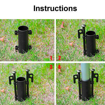 Fixed Tube Awning Rod Holder Accessories Universal Easy Install Outdoor Camping • 5.46£