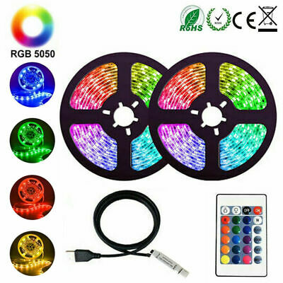 $11.99 • Buy USB 5050 RGB LED Strip Lights TV Back Light Colour Changing With Remote 1/3/5M