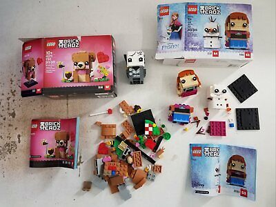 $10.50 • Buy Lego Brick Headz Parts Lot W/ Frozen 41618 Anna & Olaf & 40379 Bear Pieces ++