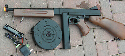 $69 • Buy Great Quality Auto Electric Airsoft Gun Thompson Tommy Gun M1A1 Wood Color