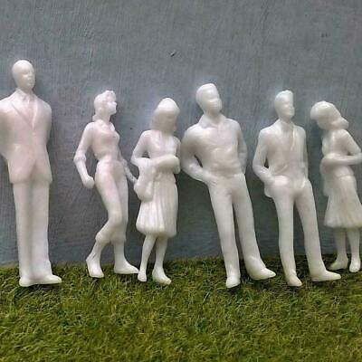 $5.65 • Buy 1:25/1:200DIY Scale Architecture White Model Figures People E1X2 F0B0