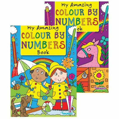 £2.29 • Buy Colour By Numbers Book - A4 Kids Childrens Activity Books Colouring In Lines