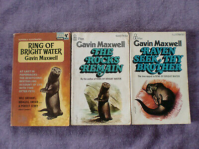 Gavin Maxwell 3 X Paperbacks. Ring Of Bright Water Trilogy • 11£