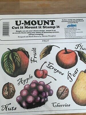 £4.95 • Buy Creative Expressions - Unmounted Rubber Stamps - Fruit