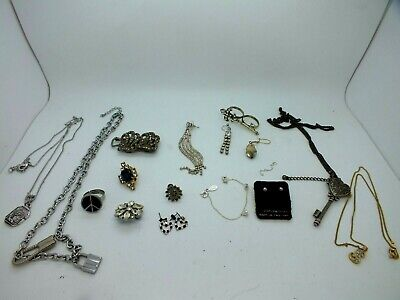 Attractive Collection Of Costume Jewellery From The 1960's Including Silver • 5£
