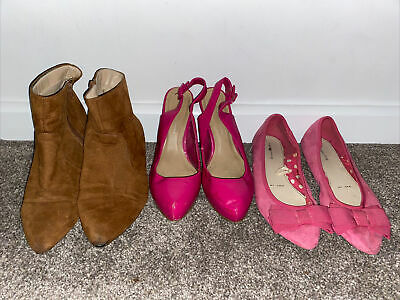 £7.99 • Buy Bundle Of Ladies Size 7 Pink Shoes Brown Boots Dorothy Perkins Red Herring Mix