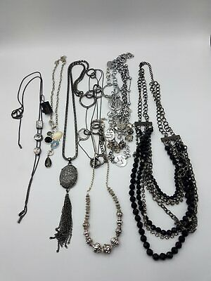 $ CDN12.52 • Buy Silver Tone Fashion Necklace Lot MM663