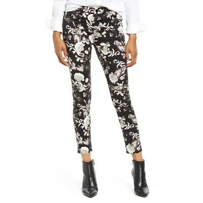 AU64.63 • Buy 7 For All Mankind High Waist Floral Skinny Jeans