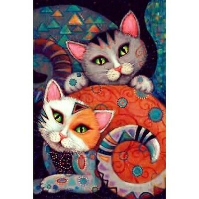 AU15.99 • Buy 5D Full Drill Diamond Painting Embroidery Kits DIY Decors Mural Cat Gifts