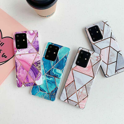 AU8.90 • Buy Samsung Note 20 Ultra S20 S10 S8 S9 Plus Marble Silicone TPU Soft Case Cover