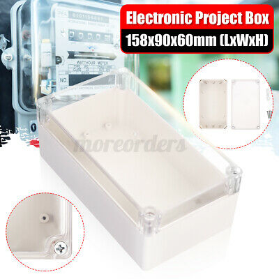 £6.85 • Buy 158*90*60mm Waterproof Clear Electronic Project Box Enclosure Plastic Case Cover