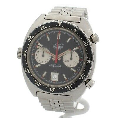 $ CDN2855.92 • Buy Heuer Autavia Vintage 40mm Stainless Automatic Date Chronograph- Nr #w436-1