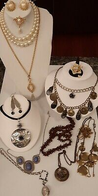 $ CDN29.65 • Buy 🥰Vintage Fashion Jewelry Lot~Rhinestones~Faux Pearls~Ring~Necklaces,Chico's!🥰
