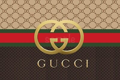 £6.50 • Buy Gucci Designer Edible Cake Topper Wafer Icing Birthday Party Deco Muffin Cupcake
