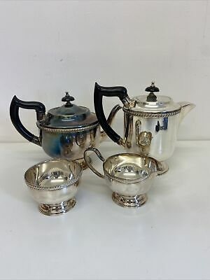 £49.99 • Buy Vintage 4 Piece Viners Of Sheffield Alpha Plate Tea And Coffee Set Corporate B4