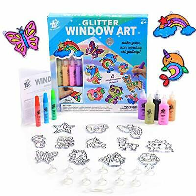 Glitter Window Art For Kids, DIY Stained Glass Effect • 19.99£