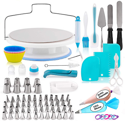 £30.06 • Buy 140 Pcs Cake Decorating Supplies Kit For Beginners With Cake Turntable Stand, 56