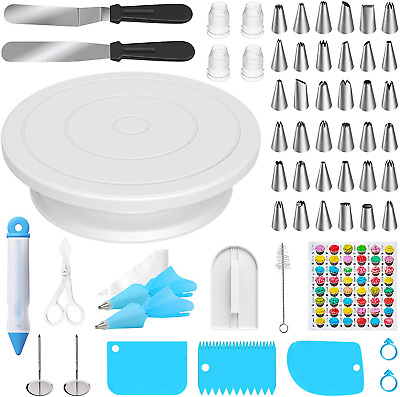 £18.92 • Buy Ouddy 83 Pcs Cake Decorating Kit Supplies With Cake Turntable, 36 Icing Tips, 3
