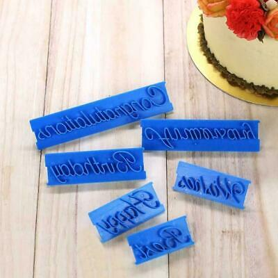 £2.48 • Buy 6pcs/set Cutter Decor Icing Happy Birthday Letter Sugarcraft Mold Mould L4O3