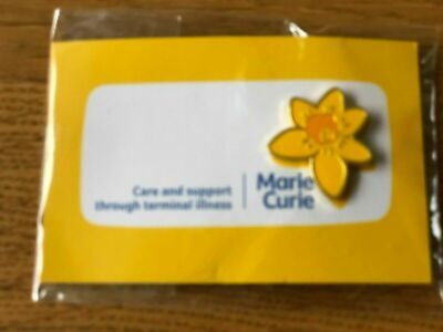 £4.20 • Buy Marie Curie  Cancer |Care Daffodil Stud Pin Badge Charity New On Card