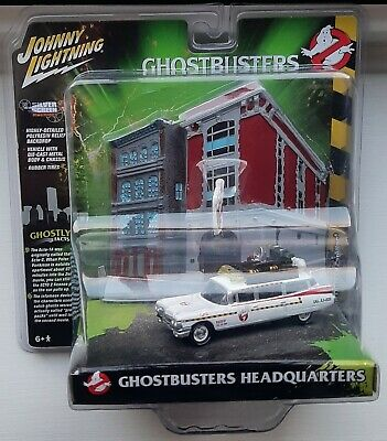 Johnny Lightning - Ghostbusters Headquarters + Ecto 1A 1959 Cadillac - Sealed • 19.95£