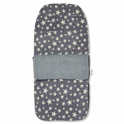 £18.99 • Buy Snuggle Summer Footmuff Compatible With Cosatto Wow - Grey With Cream Stars