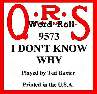 $ CDN11.28 • Buy I DON'T KNOW WHY (I Just Do), QRS 9573, Original Piano Roll