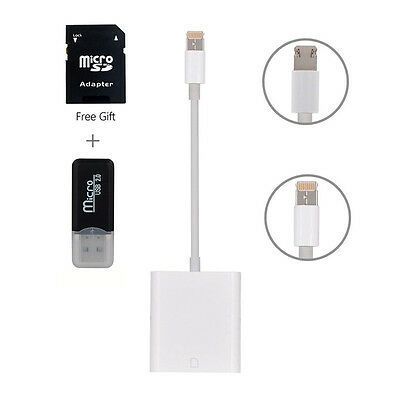 £11.68 • Buy Light-ning Card Reader Adapter Cable For IPad IPhone 7 8 X Trail Camera SD Card