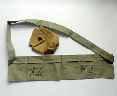 $12.99 • Buy WWII U.S. Army M1 Garand CAL.30 BALL M2 8RD CLIPS Pouch & M1 Carbine Pouch Pack